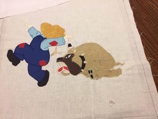 sunbonnet sa,: paper piecing: quilt: paper pieced quilt