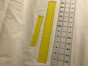 """Add a quarter rulers, 6"""" & 12"""". Clear 18"""" ruler"""