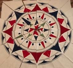 #paperpieced #compass #paperpiecedquilt