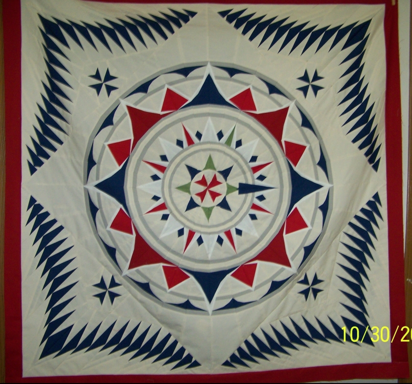 #paper pieced quilt #flying geese quilt #compass quilt #wind rose quilt