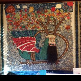 Piasa bird quilt, paperpiecing