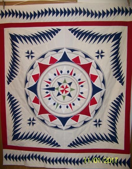 #paperpiecedquilts: #paper pieced quilt, #medallionquilt